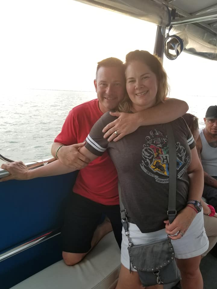 Me and my love on a sunset cruise at Ft.Myers Beach